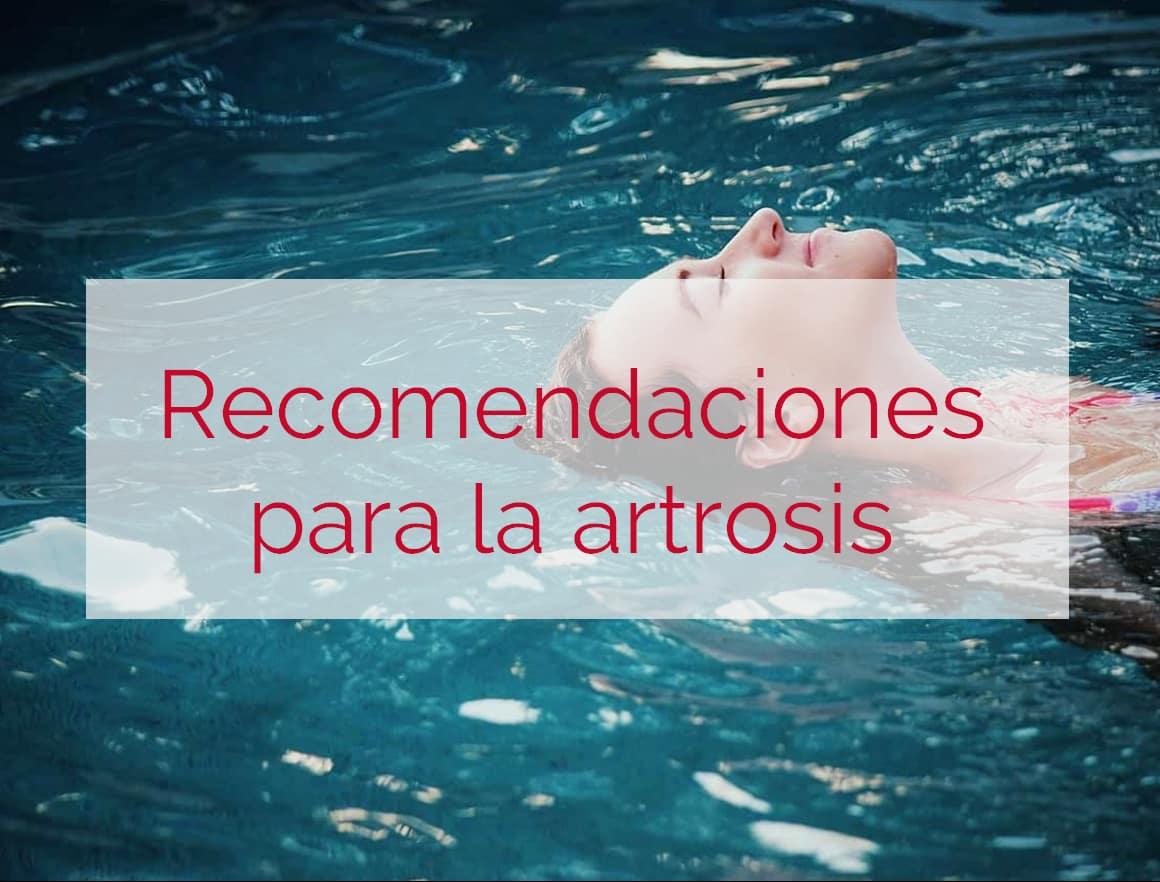 recomendaciones para la artrosis