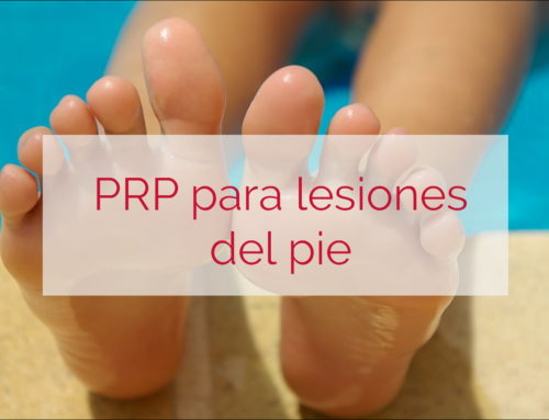 PRP para lesiones del pie